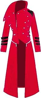 Dihope Homme R/étro Blazer Queue-de-Pie Steampunk Gothique Veste de Costume Jacket Outwear Coat Manteau Mariage Prom Party D/éguisement