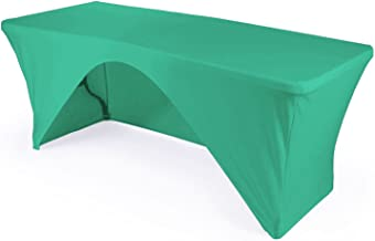 LA Linen Open Back Spandex Tablecloth for a 8-Foot Rectangular Table, 96 by 30 by 30-Inch, Mint