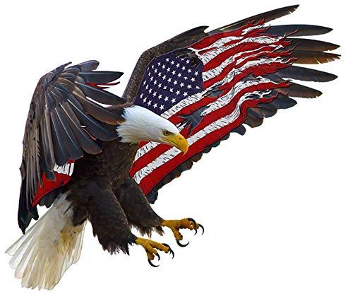 Adhesivo de PVC para coche, 14 x 11,8 cm, diseño de águila americana