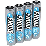 ANSMANN 4 piles rechargeables pour téléphone sans fil AAA, 1,2V / 800mAh / Accumulateurs pour...