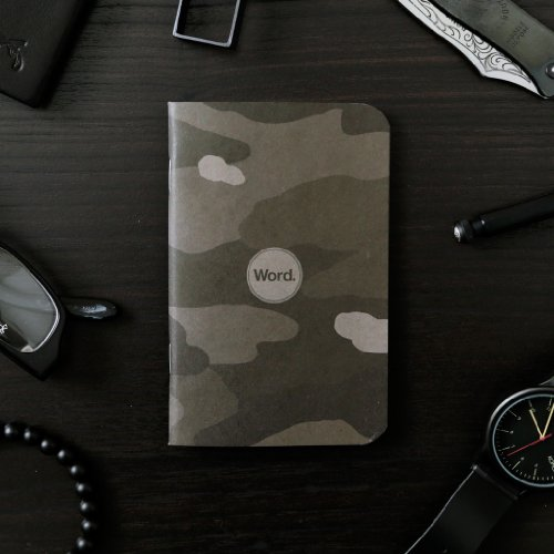 Word. Notebooks Stealth Camo - 3-Pack Small Pocket Notebooks Photo #2