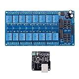 Hyzb Módulo de Control de Ethernet LAN WAN Red Servidor Web RJ45 Puerto 16 es...
