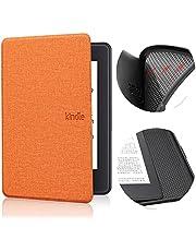 Jednokolorowy pokrowiec ze wzorem do Kindle Paperwhite 4 - Auto Sleep Wake E-Book Shell, ultra cienki pokrowiec ochronny do czytnika e-booków, osłona dla miękkiego etui do Kindle 10. 2019 silikonowe etui, pomarańczowy, do J9G29R
