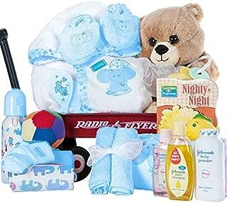 Radio Flyer Baby Boy Gift Basket