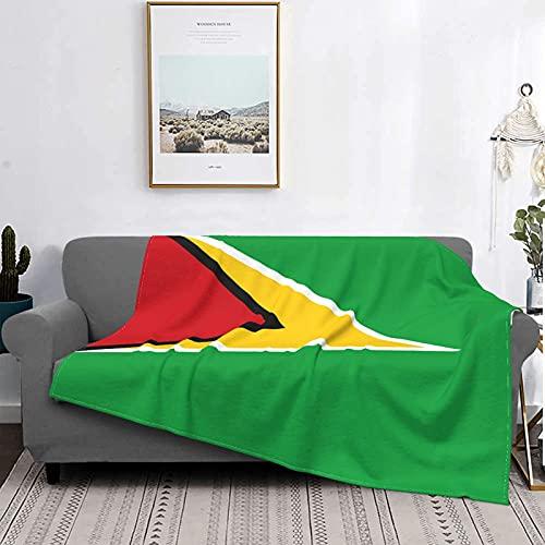 Kuscheldecke ,weiche Microfaser Gemütlich Flanell Fleece Guyana-Flagge Decke Flauschige Couchdecke , Fleecedecke erzimmer deko Wohndecke ,150 cm x125 cm