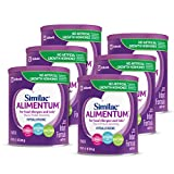 Similac Alimentum, 6 Count, Hypoallergenic Infant Formula, for Food Allergies and Colic, Starts Reducing Excessive Crying Within 24 Hours, Easy to Digest, Lactose-Free Formula Powder, 12.1-oz Can