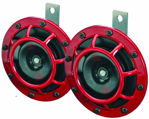 Hella 003399801SUPERTONE 12V High Ton/Low Ton Twin Horn Kit mit Halterung