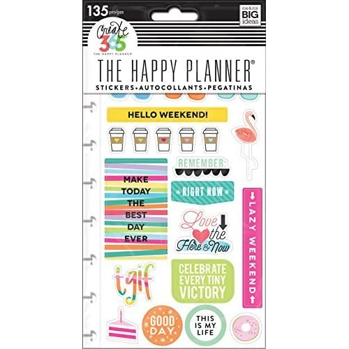 Me and My BIG Ideas PPSP-101 Create 365 The Happy Planner Snap in Sticker Pad, TGIF