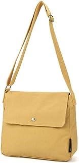 Howoo Damen Segeltuch Einfarbig Schultertasche Mode Handtasche Beiläufig Umhängetasche Gelb