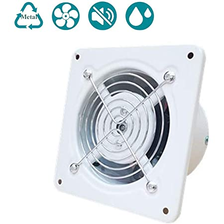 SAIYI Silenzioso Cucina Bagno Cappa 4inch Standard di Metallo Ventilazione Estrazione 25W Volume: 140m/³ // h, velocit/à: 2800r // min 100mm