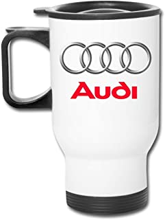 Travel Tumbler Cup Audi Colorized Logo Car Cup Portable Stainless Steel Camping Mug with Lid