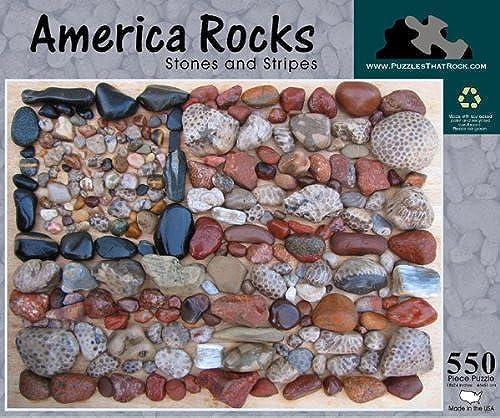 America Rocks, Stones and Stripes 550 Piece Puzzle