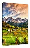 Pixxprint Herbstliche Landschaft in den Dolomiten als