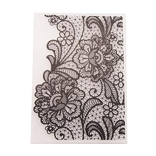 Uquelic cartella portadocumenti Transparent Plastic Gily Flower Template Card Card Making Carta Carta Album Decorazione di nozze Scrapbooking Cartelle in goffratura Cartella archivio ( Color : B )