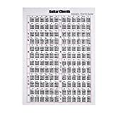Acoustic/Electric Guitar Chord & Scale Chart Poster for Teaching Beginner