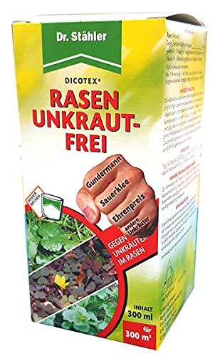 Dr. Stähler 056343 Rasen Unkrautfrei, gegen Unkräuter, 300 ml Inklusive Dosierbecher