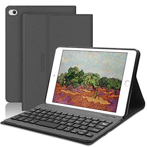 Nuova iPad Mini 5 Custodia per Tastiera, SENGBIRCH Cover Intelligente per Supporto Cavalletto Magnetico con Tastiera Bluetooth Rimovibile per iPad Mini 5 7.9 Pollici-iPad Mini 4/3/2/1, Nero