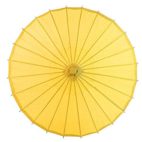 Paraguas amarillo estilo japonés