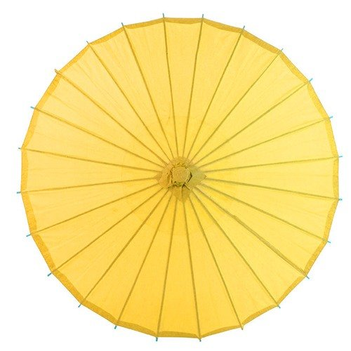 TECH-FUN Regenschirm aus Ölpapier, zum Aufschießen, Requisiten, Tanz-Regenschirm, Decke, dekorativer Regenschirm 1 goldgelb