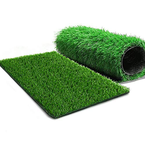 STARROAD-TIM Dog Grass Pad Artificial Grass Turf Puppy Potty Trainer Fake Grass for Dogs Bathroom Mat Drainage Holes Use for Indoor and Outdoor (2 Pack)