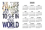 Mahatma Gandhi Be The Change You Want to See in The World Day Monthly 2020 Wall Calendar Poster 12x18 Inch