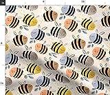Spoonflower Stoff - Aquarell Bienen Muster Gemalt Kinder