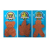 Brown Sugar Bear Brown Sugar Keeper Softener Canister and Containers Moisture Absorbers — Bear, Maple Leaf and Gingerbread Shapes Brown Sugar Saver— For Pantry Items, Sugar Cubes, Salt, Spices, Crackers, Pretzels and Chips