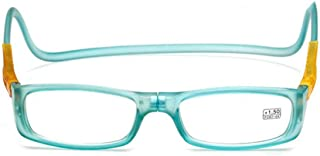 Hanging Neck Reading Glasses Magnet Glasses Adjustable Front Connection Reader Ultre Light Anti-Forgetting Radiation to Send The Elderly (Color : Green, Size : +2.5X)