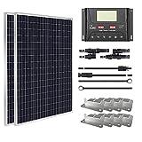 HQST 200W 12V Monocrystalline Solar Panel Kit w/ 30A PWM LCD...