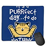 huatongxin Cat Puurfect Day to Do Nothing Customized Designs Non-Slip Rubber Base Alfombrilla de...