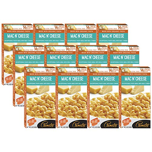 Pamela's Products Gourmet Gluten Free High Protein Pasta Meal with Real Cheese, Mac N' Cheese, 12 Count