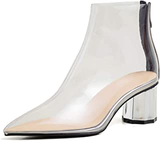ANNIESHOE Botas Mujer de Vestir Botines Bajas Zapatos Tacon