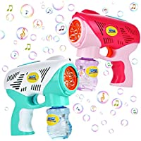 Two Bubble Guns for Kids with Two Bubble Solutions