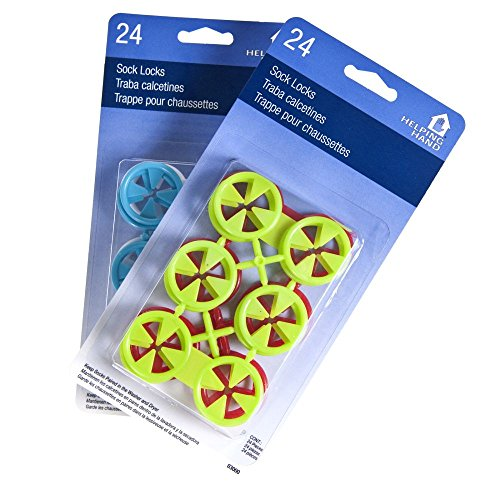 48ct Helping Hand Sock Locks Keep Socks Paired in Washer Dryer Laundry Wash Tool by Helping Hand