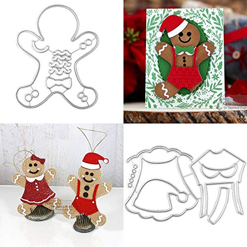 Metal Embossing Gingerbread Man Cutting Dies Stencils Christmas Dies Cuts for DIY Crafts, Scrapbooking, Photo, Present, Greeting Cards Albums