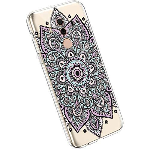 Ysimee Case kompatibel mit Huawei Mate 10 Pro Hülle Silikon cover Bumper [Ultra Dünn] Stoßfest Mandala-Serie Muster TPU Schutzhülle Anti-Scratch Anti-Rutsch Handyhülle Weich BackCover, Mandala -8