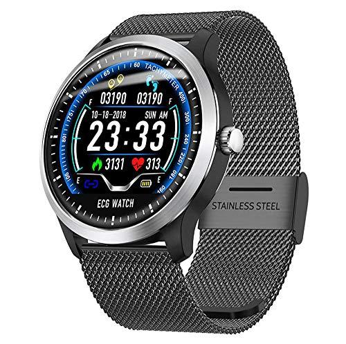 YCMTZ Reloj Bluetooth para hombre con detección de frecuencia cardíaca, rastreador de actividad a prueba de agua, pulsera deportiva multifuncional
