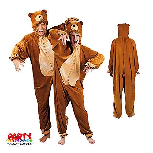 PARTY DISCOUNT ® Herren-Kostüm Bär Gr. XL
