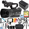 JVC GY-HM250 UHD 4K Streaming Camcorder - Ultimate Bundle Includes: Extreme 32GB SD, 160 LED Light, Tripod and Dolly, Wireless Mic System Kit, X-Large Gadget Bag and More from Pixel Hub