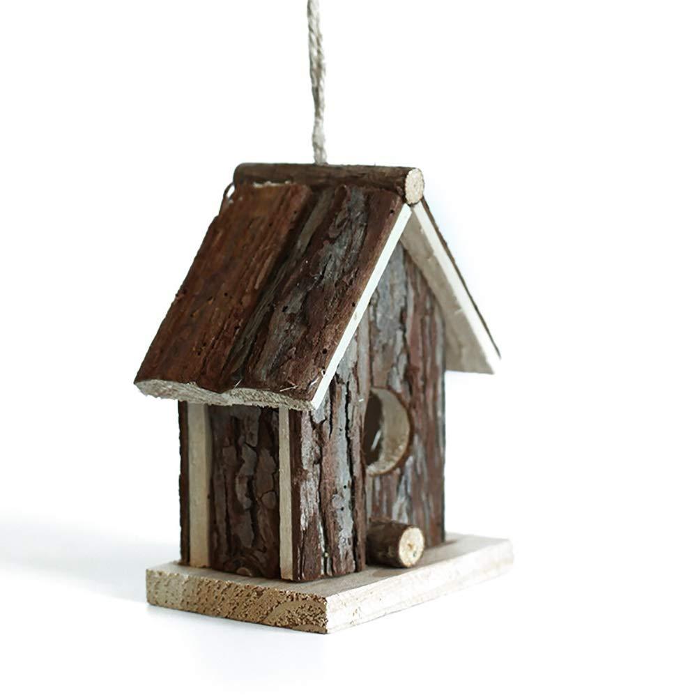 PQXOER Casas para Pájaros 3 Piezas de Madera Birdhouse Nido Idílico jardín Interior Ornamento Exterior de Madera Birds Nest Caja DIY Cría Nido de Golondrinas Decoración Colgante Casita para Pájaros: Amazon.es: Hogar