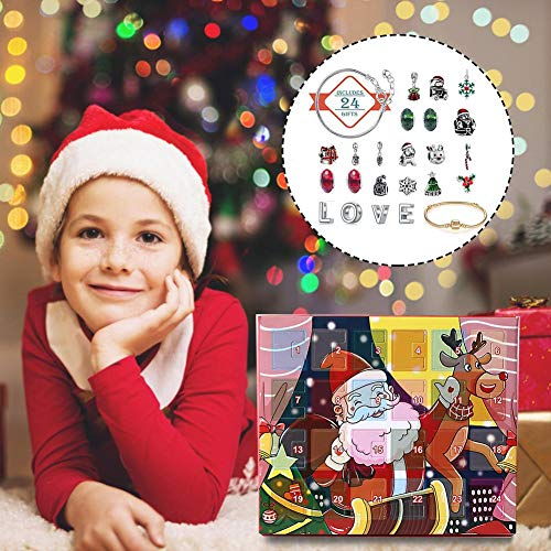 TOMATION Calendario de Adviento de Navidad Digital Bolsa de Lino 2019,24 días Cuenta Regresiva de Navidad DIY Calendario de Adviento Colgante Guirnalda Bolsas de Regalo de Sacos para intensely Kind