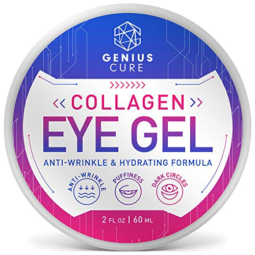 51nouTpxNEL - Collagen Eye Gel, Under Eye Gel Treatment for Reducing Dark Circles, Moisturizing, Targets Wrinkles Anti-Aging, Fine Lines, Eye Bags, Puffiness for Women Men 2oz