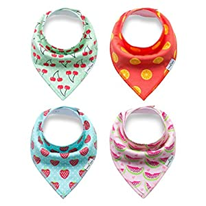 PET SHOW Pet Dog Cat Puppy Bandana Bibs Double Cotton Triangle Scarfs for Baby Head Scarfs Accessories for Pet Pack of 4