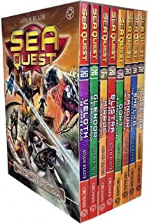 Sea Quest Series 7 and 8 Collection Adam Blade 8 Books Box Set (Book 25-32) (Veloth the Vampire Squid, Glendor the Stealth...
