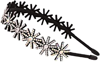 Headband Crystal Hairhoop Non-slip Teeth Hairband Hair Accessories for Women #5
