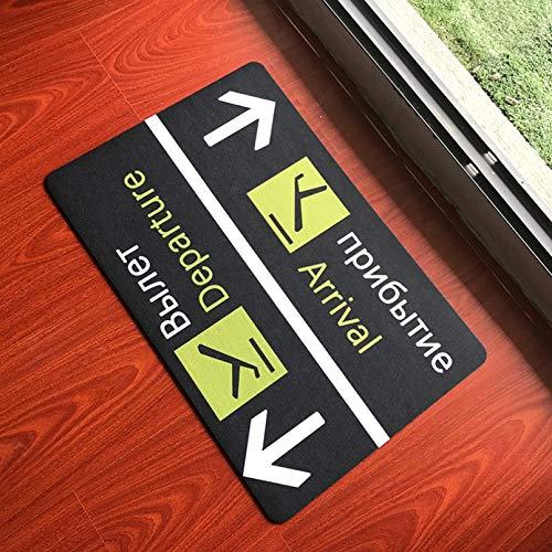 Felpudo Alfombra de bienvenida de salida divertida rusa para entrada, felpudos novedosos para piso, letrero de aeropuerto, alfombrillas de goma antideslizantes para interiores, alfombra, alfombra