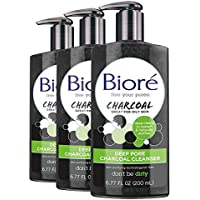 3-Pack Biore Deep Pore Charcoal Cleanser, 6.77 ounce