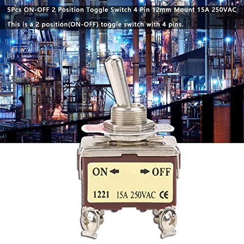 Interruptor de palanca ON-OFF, fuerte capacidad antiinterferencias Interruptor de palanca de 250 Vac, 5 piezas de alta precisión duradera 16A para secado en estufa industrial