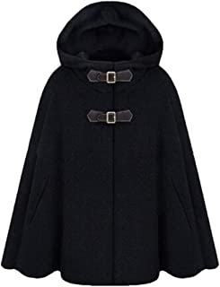 Women's Fashion Poncho Wool Cape Sleeve Batwing Jacket Hoodies Jackets