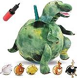 WALIKI PBl-Dino T-REX Hopper Ball | Green Hippity Hop | Jumping Hopping Ball | Sit & Bounce (Large: Ages 6-9, Dino)